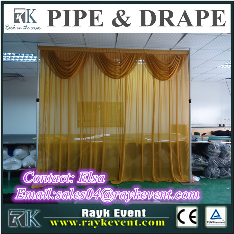 RK pipe and drape rental portable pipe & drape for sale used pipe and drape