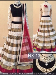 Sprightly Off White Net Designer Lehenga Choli/Online shopping for Indian lengha choli