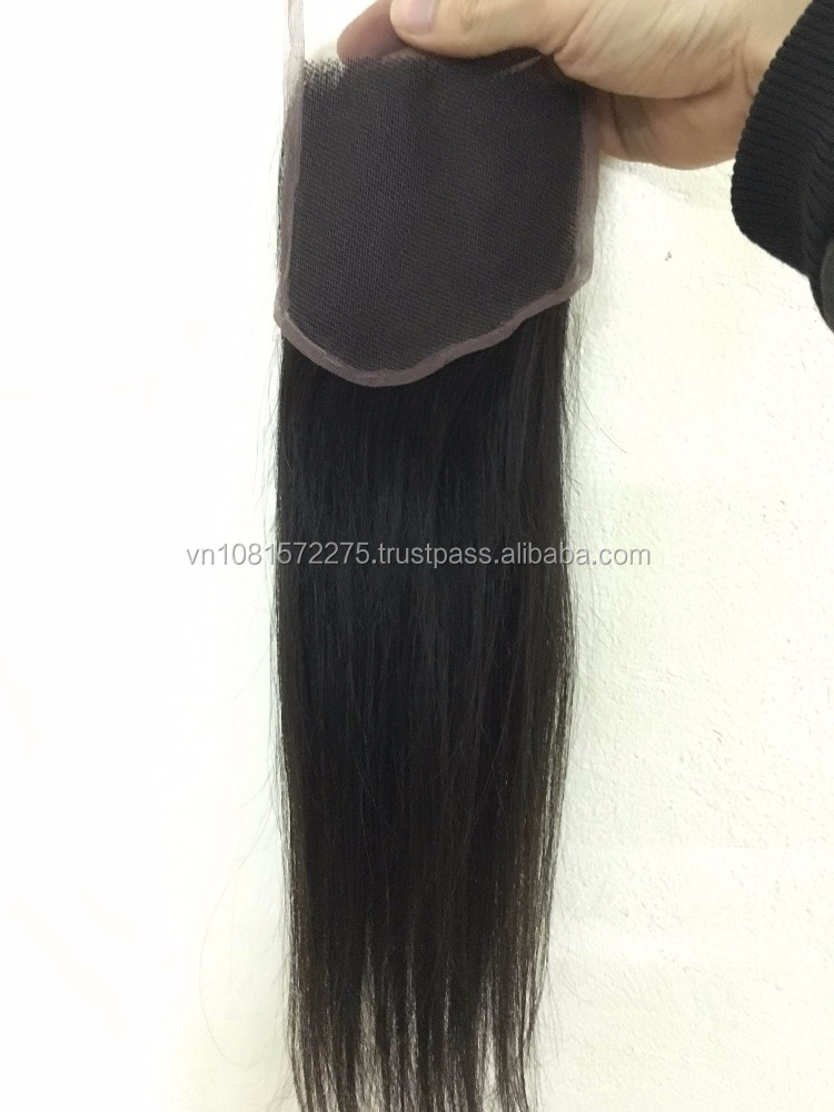 April 2016 100% hand made wig, lace closure, processed and machine weft hair for extension