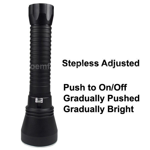 D150 Cree XHP50 White 2500 Lumens Stepless Adjusted Diving LED Flashlight - Black ( 2x26650 )