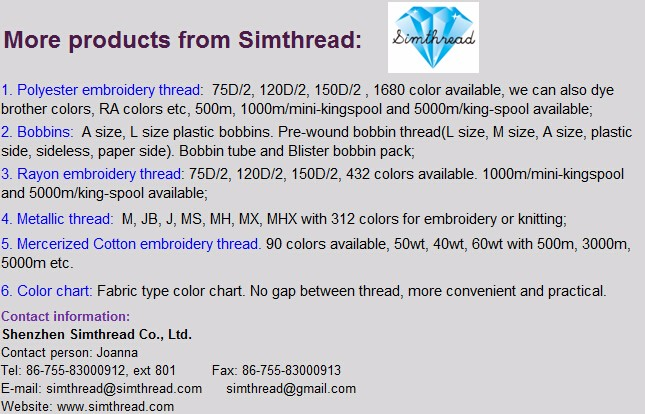 bobbin thread, embroidery thread, thread,machine pre-wound bobbin thread