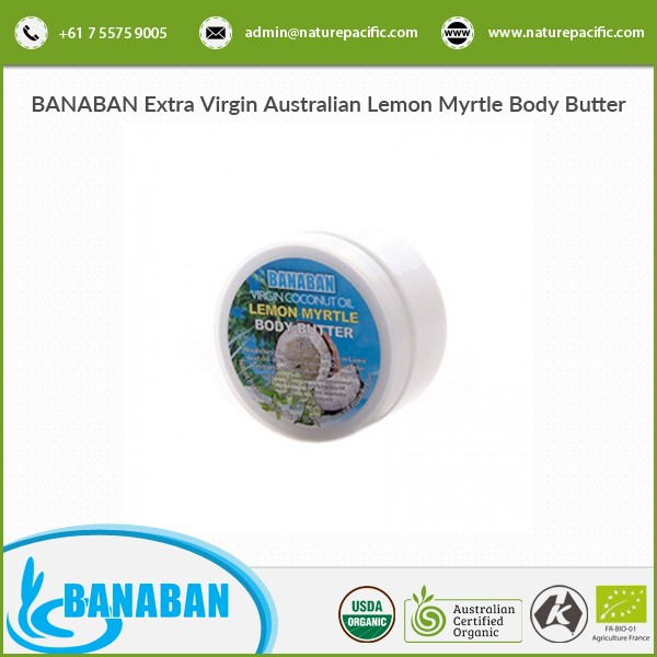 Extremely Effective Optimum Quality Virgin Coconut Oil Lemon Myrtle Body Butter for Sale