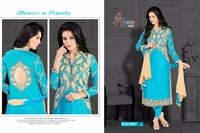 DOLLAR 3 GLACE COTTON SEMI-STITCHED CASUAL SALWAR KAMEEZ