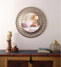 Metal Mirror Handicrafts work wall hanging