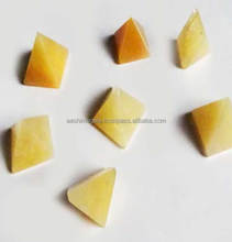 Yellow Jade 25-30 mm Pyramids | wholesale pyramids aashim agate khambhat supplier | quality products