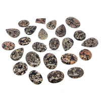 100 gms fireworks snowflake obsidian 24 pcs free size Mix cabochon loose gemstones for jewelry