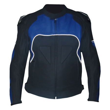 black/blue Motorcycle Leather Jackets