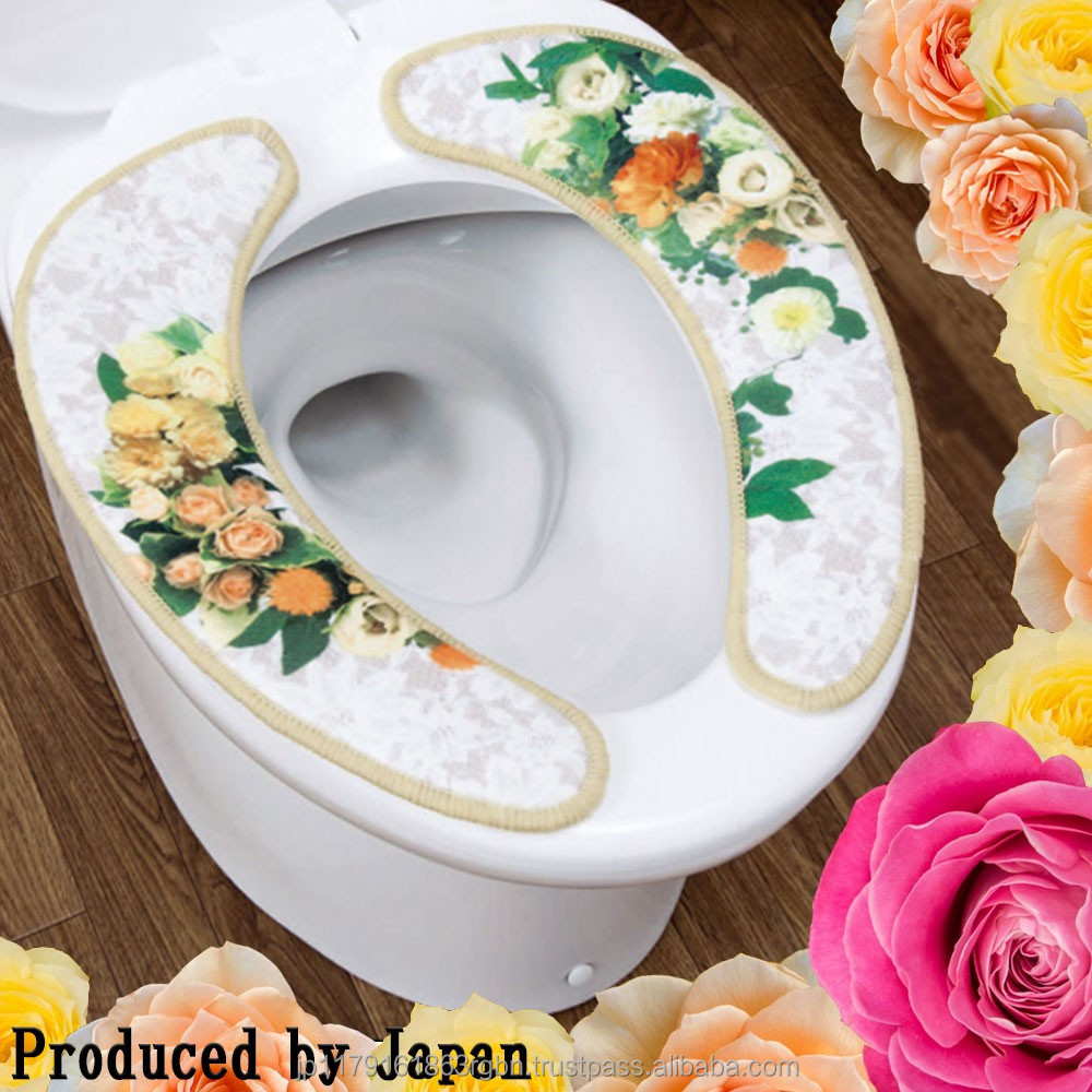 Power saving and Best-selling smart toilet seat cover with flower design produced by Japan