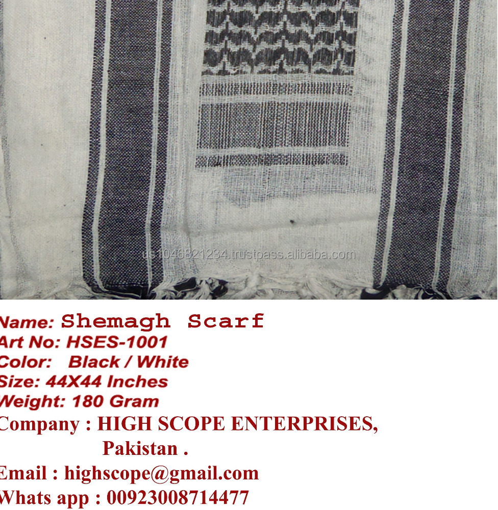 Shemagh /Keffiyeh Scarf 100% cotton 44x44 inches Arab Scarf