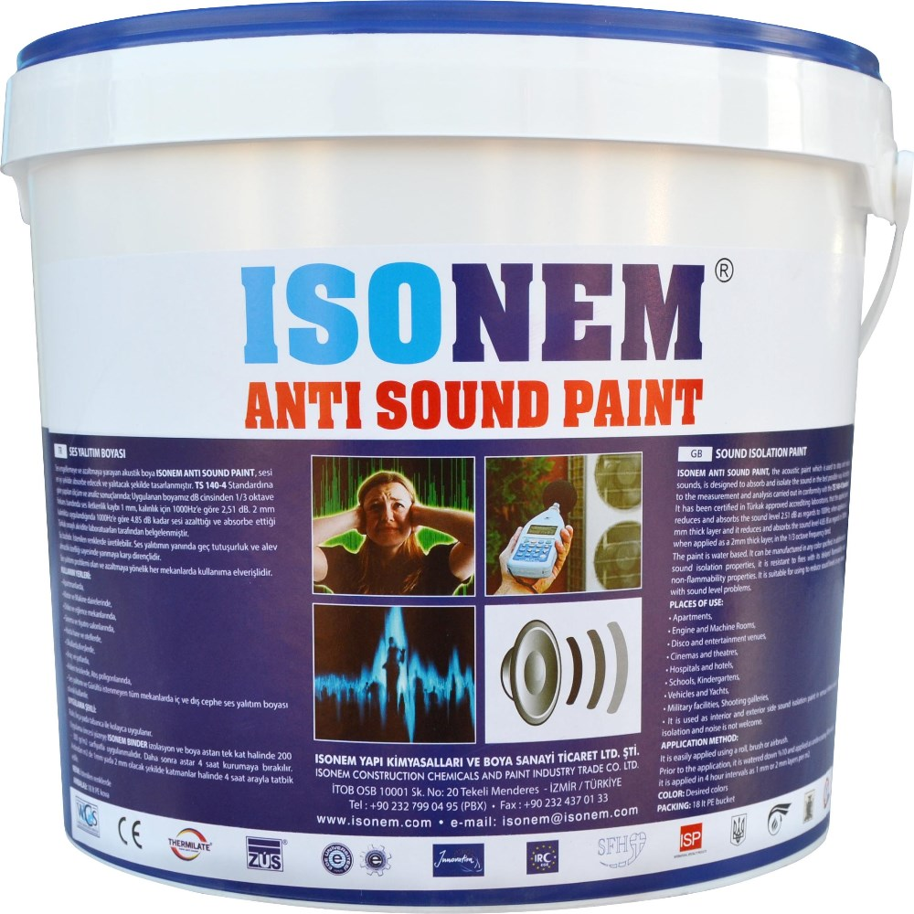 ACOUSTIC SOUND INSULATION BUILDING WALL PAINT PROVIDING SOUND INSULATION FOR INTERIOR AND EXTERIORS