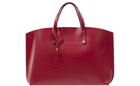 Genuine leather handbag shopping bag, Made in Italy