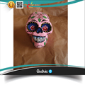 Ornament Artificial Skull Head Hand painted Flower Tribal Abstract