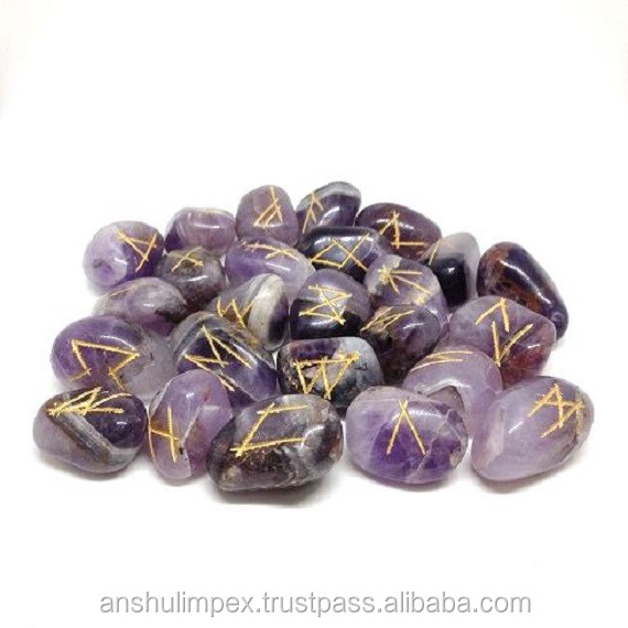 Wholesale Amethyst rune sets, runes stones, wholesale runes.