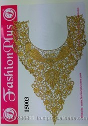 New Arrival Designer Gold GPO Zari Neck for Ladies Suits From Fashion Plus