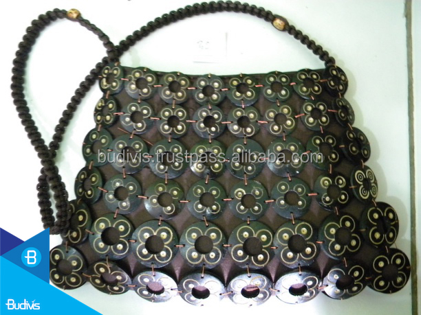 Top Quality Ethnic Style Handbag Shoulder Bag Handmade Coconut