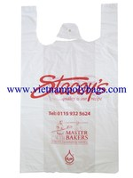 Vietnam 25%Caco3 Shopping t-shirt , singlet plastic bags with high quality