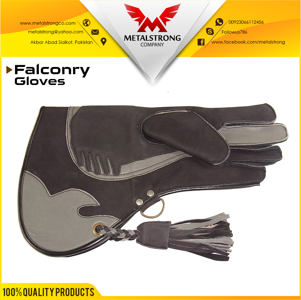 Genuine Finish Leather Single/Double/Tripple Skinned/Layer Falcon/Falconry Glove In All Sizing
