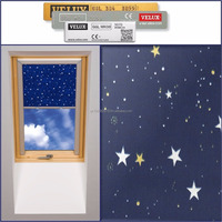 BLACKOUT STARS THERMAL ROLLER ROOF SKYLIGHT BLINDS FOR ALL VELUX WINDOWS