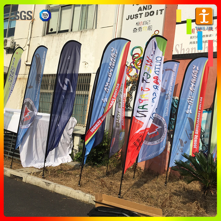 Teardrop linesmen flag custom size company logo printed beach feather flag