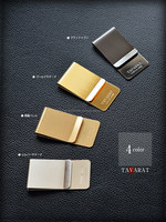 Four Color Line Up Brass Money Clip Japanese Product Made in Japan CYBERL Best for Wallet