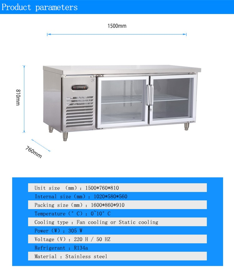 Bench Drawer Fridge 28 Images Tc0 6n9w Stainless Steel Workbench Refrigerator With Four