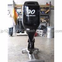 Free Shipping For Used Mercury 90HP 4 Stroke Outboard Motor