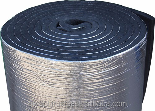 Roof and Attic Thermal Insulation Material Double Sided Embossed Aluminum Foil XPE Foam
