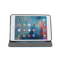 Attractive Pocket Smart Leather Case for iPad mini 4, Smart Jeans Style case for ipad mini 4, holder stand case for ipad mini