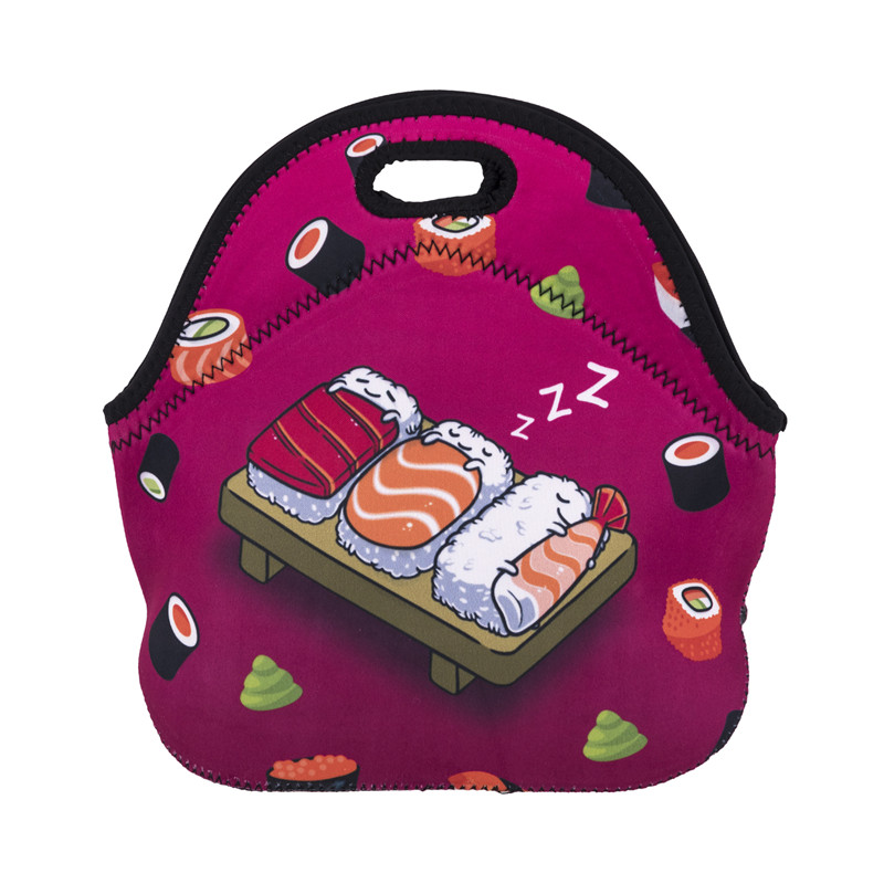 Factorytoshop (UK) Provider of dropshipping and wholesale, Unisex Funky Print Style Soft Zipper Lunch Bag - Sleeping Sushi