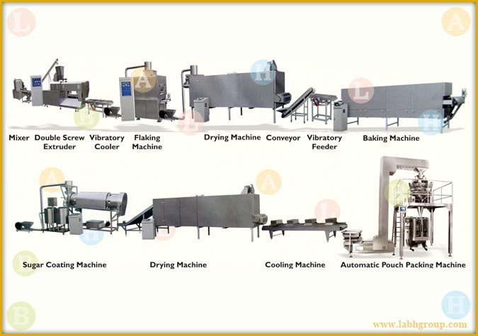 Corn Flakes Production line machines