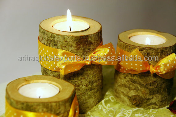 Woodland Baby Shower Decorations Decor, Woodland Baby Room, Wood tealight holder, Wooden candle holder, Log candle holder, Rusti