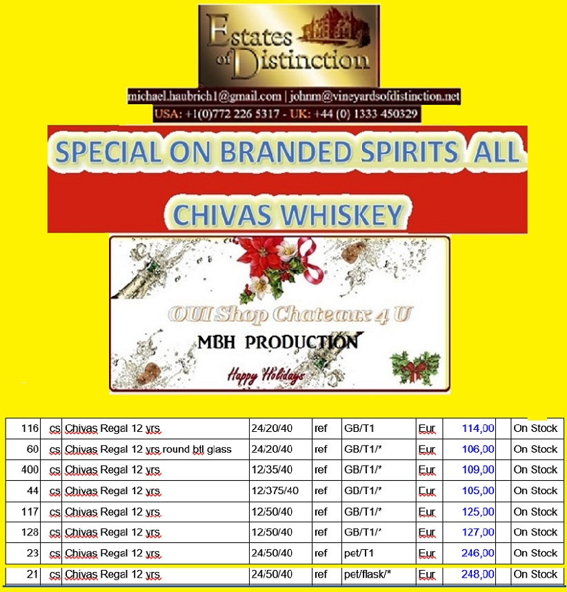 BRANDED SPIRITS ALL BRANDS WHOLESALE 75 MILLION euros STOCK... hurry!
