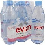 Vittel , Evian, Perrier Natural Source Mineral Water