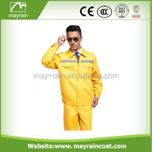 Flame Retardant Coverall Of Blue Colors For Reflective Safety Coverall Workwear