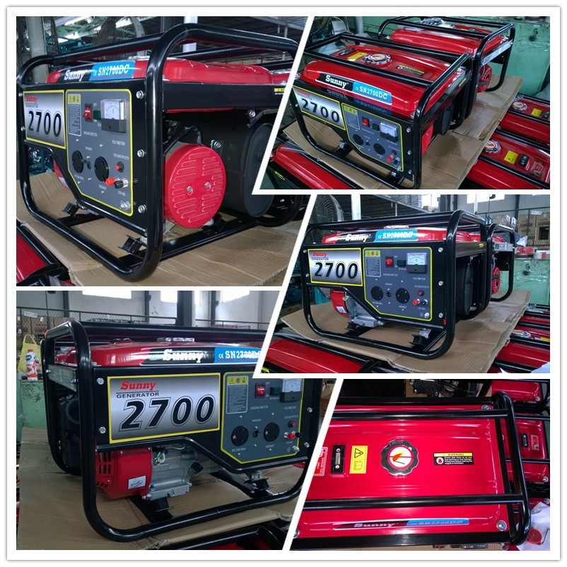 2.5KVA Petrol Single Phase Gasoline Generator With Handle And Wheels