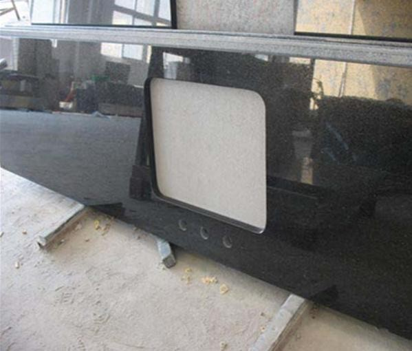 China Absolute Black Granite Slab For Sale