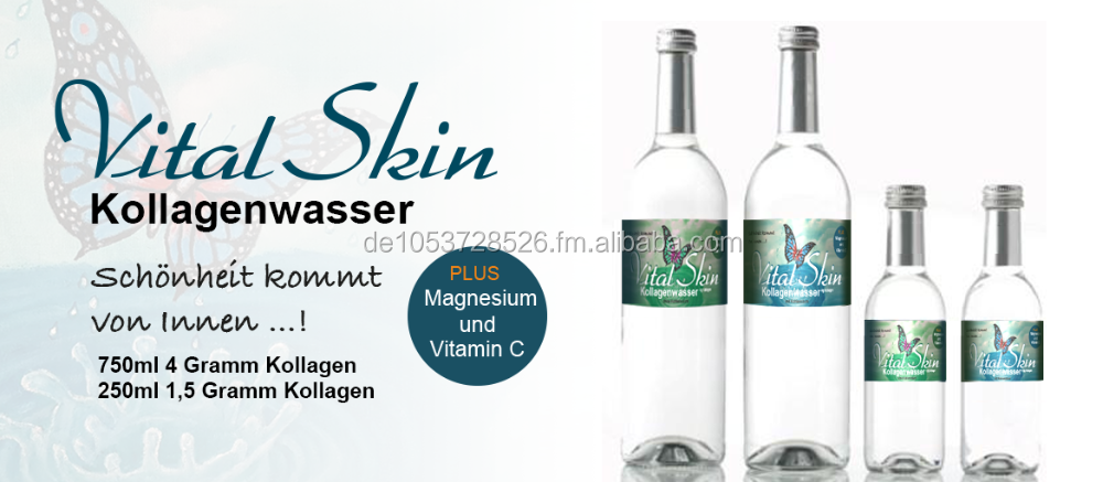 Collagen Mineral Sparkling Water with Vitamine C and Magnesium German Product - 250ml