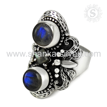 >>>2017 latest wedding fine silver rings blue labradorite handmade jewelry 925 sterling silver ring exporters