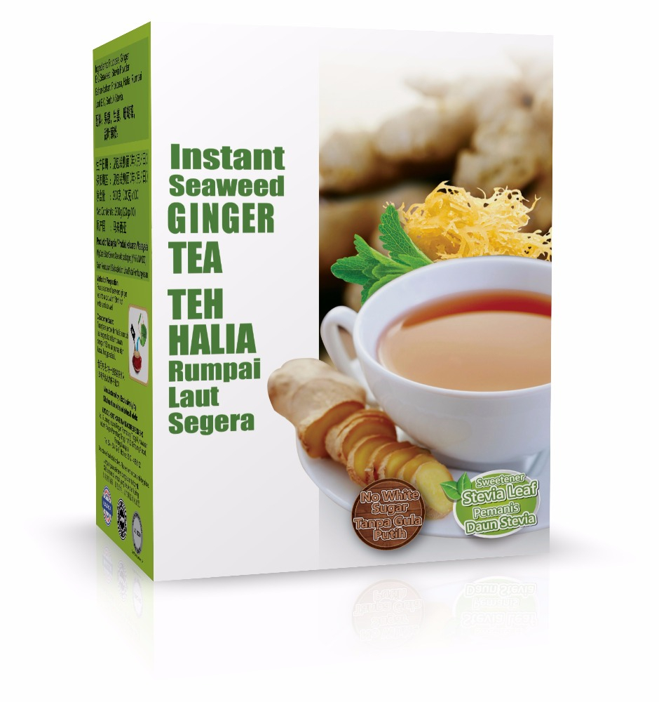 Stevia leaf Instant Ginger Tea with Seaweed