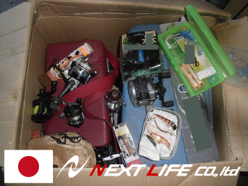 Reliable japanese.alibaba used Fishing tackle for recycle shop suitable to open recycle shop