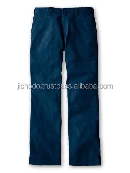 Exothermic pants ( flat front ) for Autumn and Winter. Made by Japan