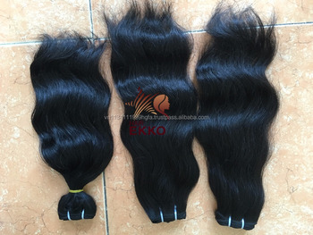 100% natural virgin human long black machine weft hair for extension natural straight and wavy remy human hair wholesale