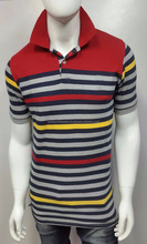 Free Sample High Quality Branded Soft Custom Mens Polo Shirt With Strip Pattern
