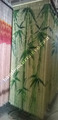 Bamboo door curtain with bamboo tree