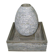 Pebble / Slate water fountain - Stacked stone walls & Water features fountain - River Stone & Pebble water fountain [wholesales]