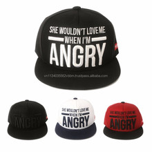 [P119-P120] ANGRY worked with Big font on front panel snapback cap
