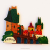 Fridge magnet city Prague, souvenir magnets with Prague or any city, handpainted tourist souvenir fridge magnet, GH2-18