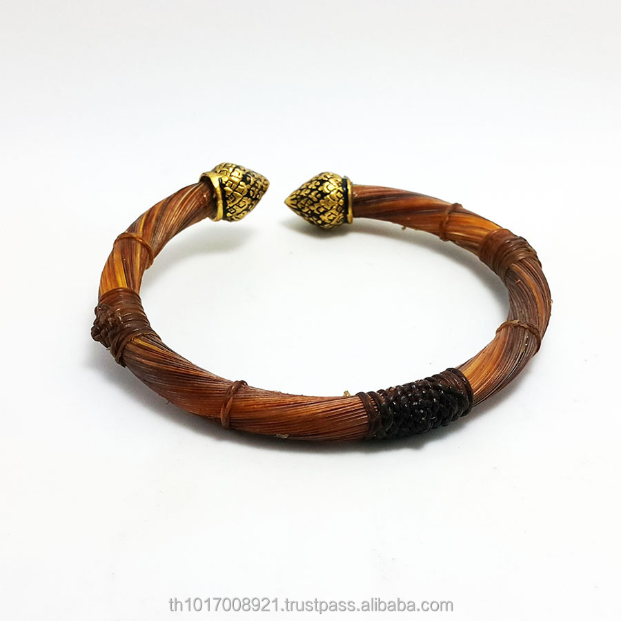 Inspire Jewelry Bracelet free size from elephant tail Thailand and gold plated with handicraft