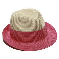 Trendy & fun two toned Fedora hat PINK HAT BWH47