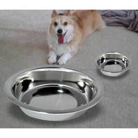 Hotsale large dog bowls ceramic pet bowls with inside metal